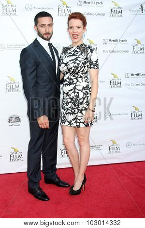 LOS ANGELES - SEP 26:  Andres Delafuente, Nina Rausch at the Catalina Film Festival Saturday Gala at the Avalon Theater on September 26, 2015 in Avalon, CA