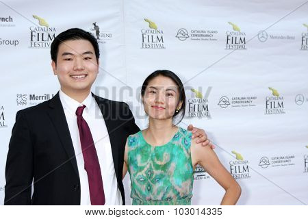 LOS ANGELES - SEP 26:  James Kwon Lee, Ting Ting Ng at the Catalina Film Festival Saturday Gala at the Avalon Theater on September 26, 2015 in Avalon, CA