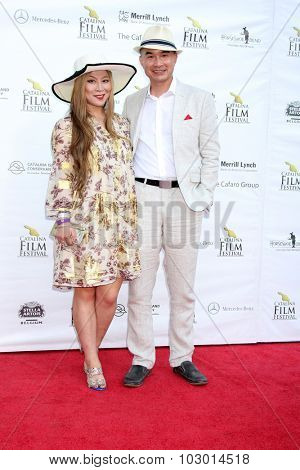 LOS ANGELES - SEP 26:  Alice Aoki, Ed Moy at the Catalina Film Festival Saturday Gala at the Avalon Theater on September 26, 2015 in Avalon, CA