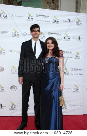 LOS ANGELES - SEP 26:  Brandon Woodward, Lia Woodward at the Catalina Film Festival Saturday Gala at the Avalon Theater on September 26, 2015 in Avalon, CA