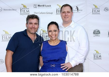 LOS ANGELES - SEP 26:  Nick Spark, Jessica Cox, Patrick Chamberlain at the Catalina Film Festival Saturday Gala at the Avalon Theater on September 26, 2015 in Avalon, CA