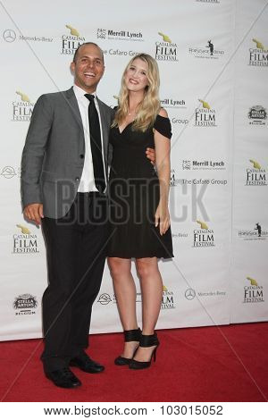 LOS ANGELES - SEP 26:  Jon Paul Rothie, Hillary Harpster at the Catalina Film Festival Saturday Gala at the Avalon Theater on September 26, 2015 in Avalon, CA