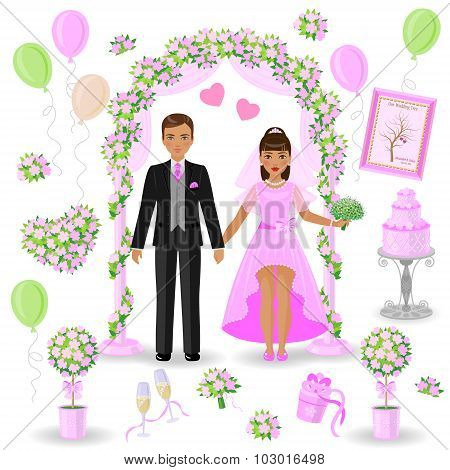 Pink-green Wedding Design