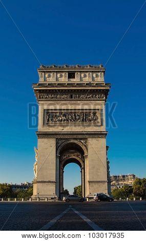 The Triumphal Arch, Paris, France.