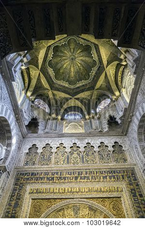 Interior Of Mezquita-catedral A Medieval Islamic Mosque That Was Converted Into A Catholic Christian
