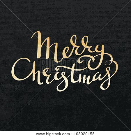 Merry Christmas Gold Lettering