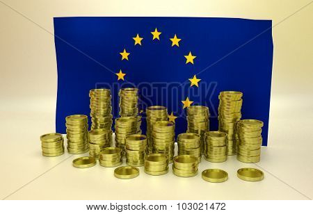 finance concept with EU flag