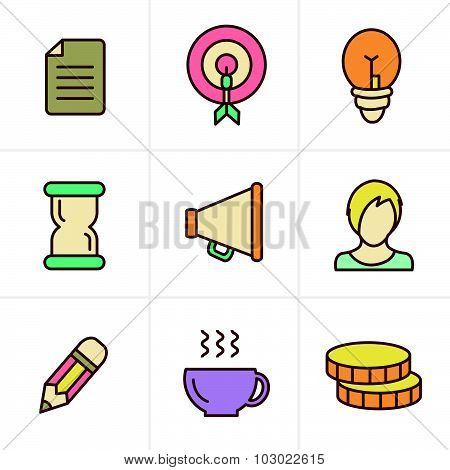 Icons Style   Business Icons Set, Vector Design