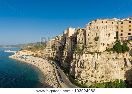 Famous historical sea resort town of Tropea in Calabria region, Southern Italy