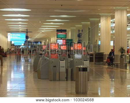 The newer Terminal 3 (Emirates) at Dubai International Airport