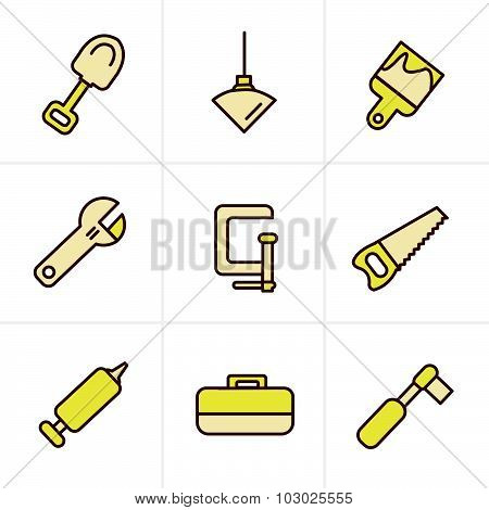 Icons Style Basic - Tools And Construction Icons