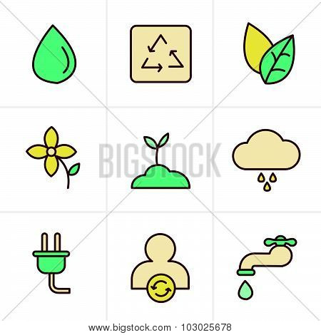 Icons Style Eco Icons