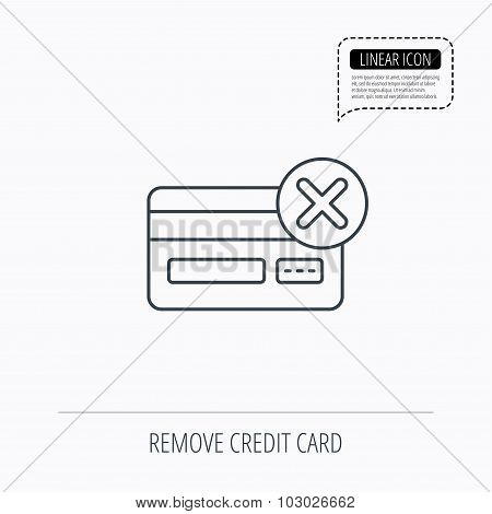 Remove credit card icon. Shopping sign.