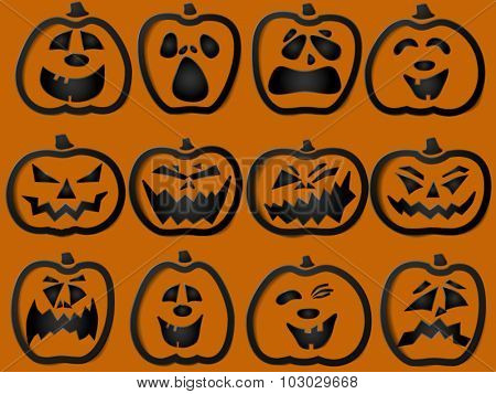 Pumpkin outlines