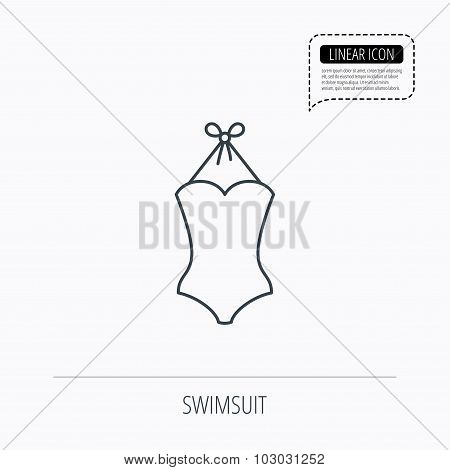 Swimsuit icon. Women swimwear sign.