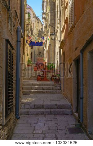 Alley In Korcula, Croatia