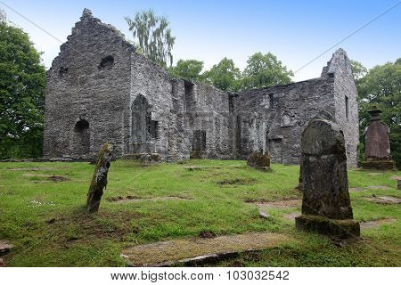 Ruins Of Gothic Old Cemetery, Scotland, Uk