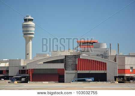 Airport Terminal and Air Traffic Control Tower