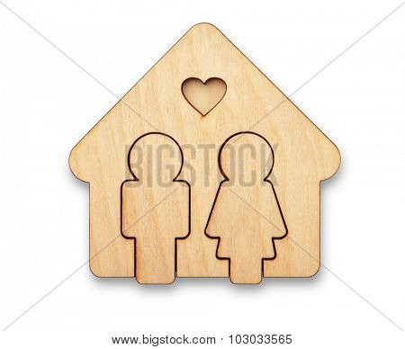 Concept of loving couple in new house