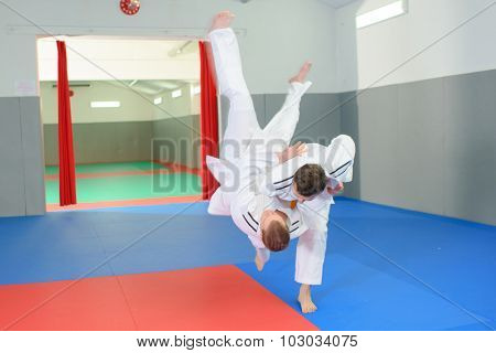 Impressive judo move