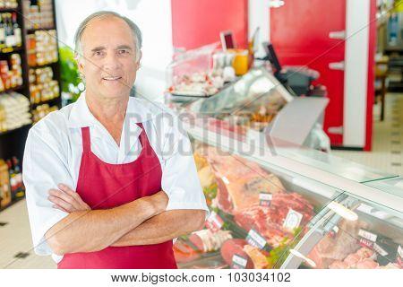 Butcher proud of his shop