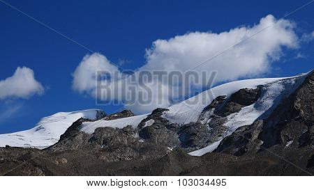 Cloud Over A Glacier In Zermatt
