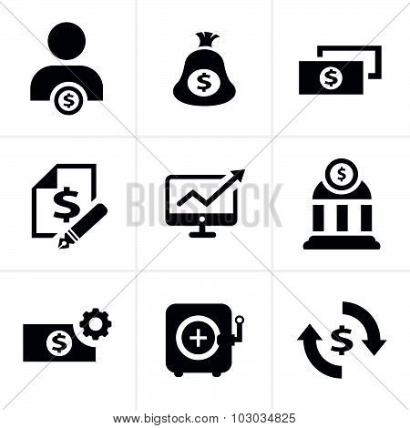 Finance Icon Set,vector