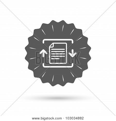 Archive file icon. Compressed zipped file.