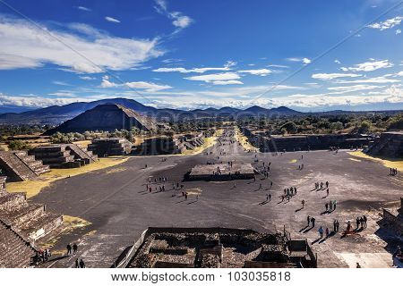 Avenue Of Dead, Teotihuacan, Mexico City Mexico