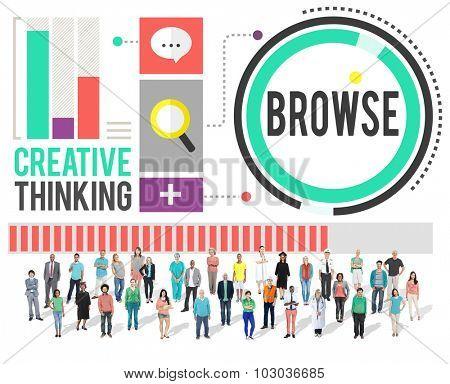Browse Internet Network Software Website Concept