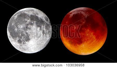 Blue Moon And Blood Moon