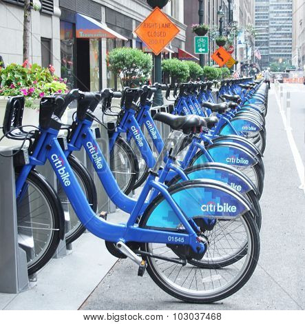 Citi Bikes for rent in NYC