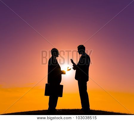 Business Meeting Businessmen Talking Discussion Concept