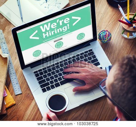 Business Worker Recruitment Hiring Office Working Concept