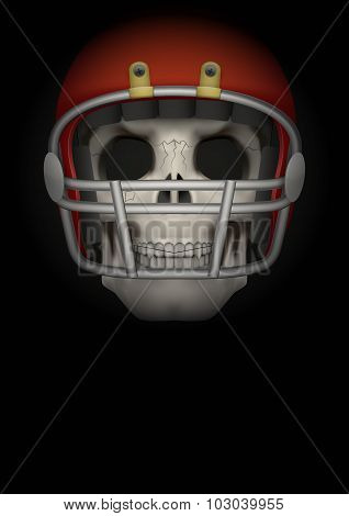 Dark Background of american football. Vector Illustration.