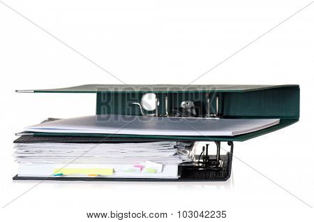 Two file folders, isolated on white background