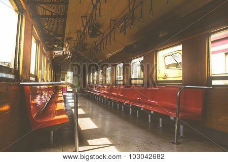 Cabin Of Thai Train Vintage Style