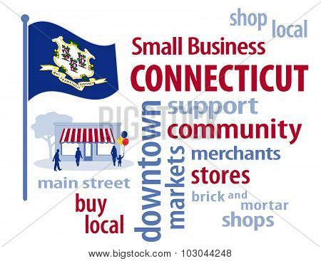 Connecticut Flag, Small Business USA, The Constitution State