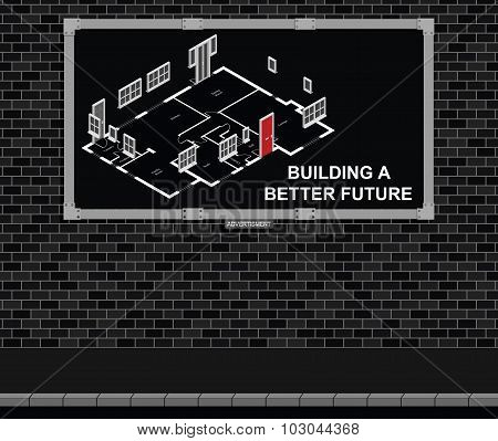 Building a better future advertising board