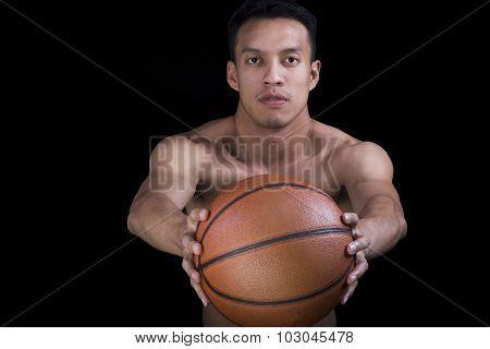 Asian  Basketball Player