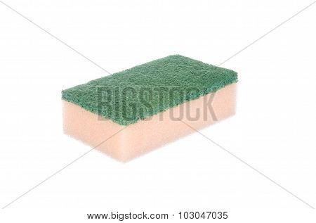 Dish Washing Sponge Isolated On White Background