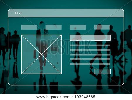 Web Page Technology Website Online Software Concept