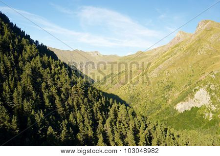 Canal Roya Valley in Pyrenees, Canfranc Valley, Aragon, Huesca, Spain.