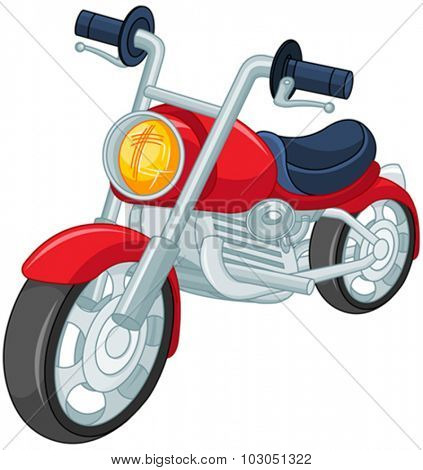 Illustration of red motorcycle