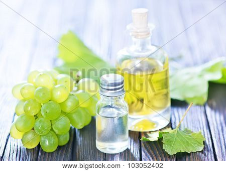 Grape Oil In Bottle