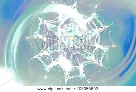 Winter flower similar to blizzard. Fractal art graphics