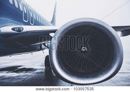 Airplaine exterior close up