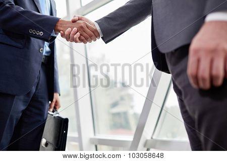 Hands of businessmen during handshake