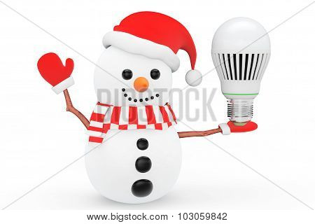 Snowman With Energy Save Led Bulb