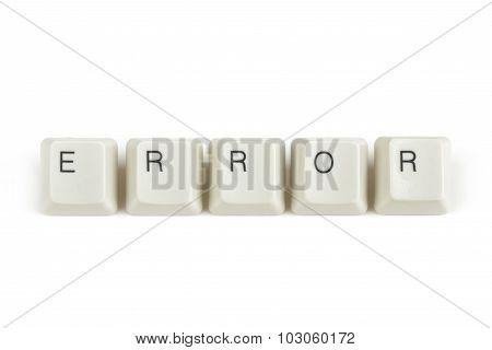 Error From Scattered Keyboard Keys On White